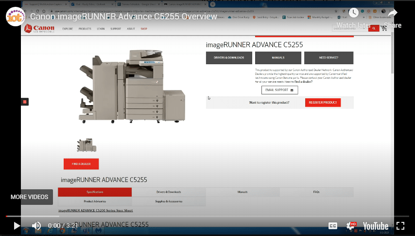 Canon imageRUNNER Advance C5255 Overview